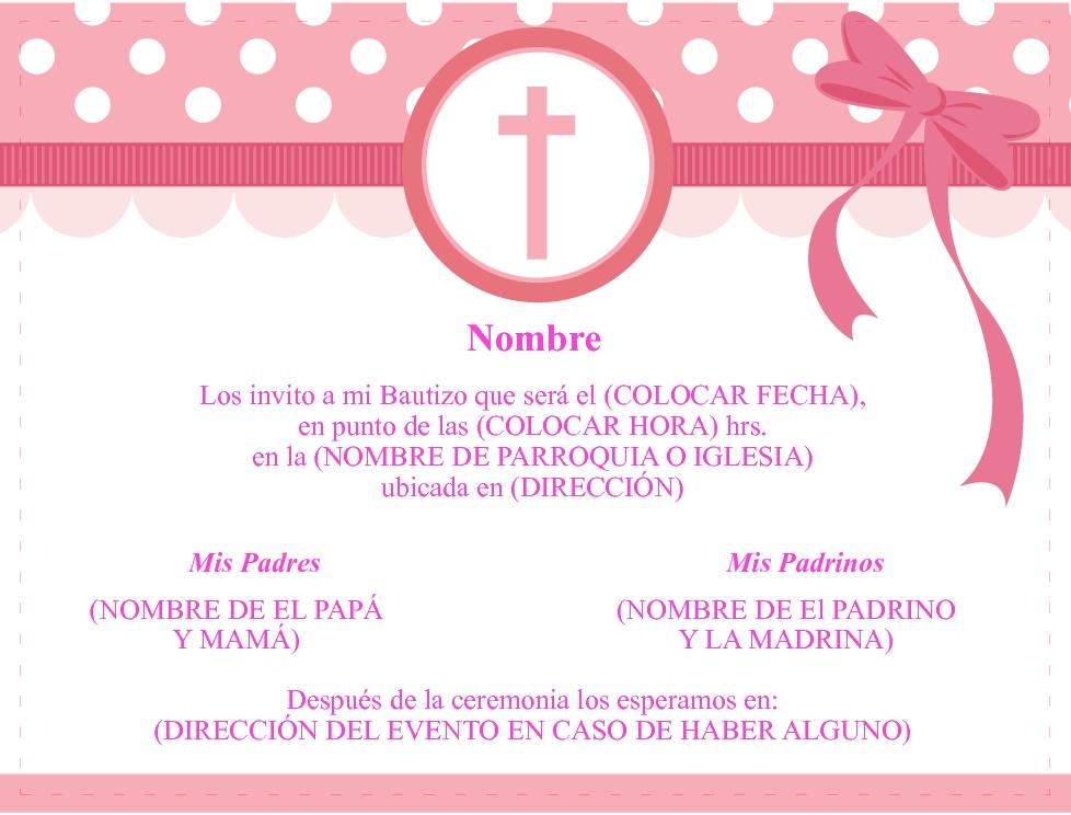 plantillas para invitaciones de bautizo zaxa tk